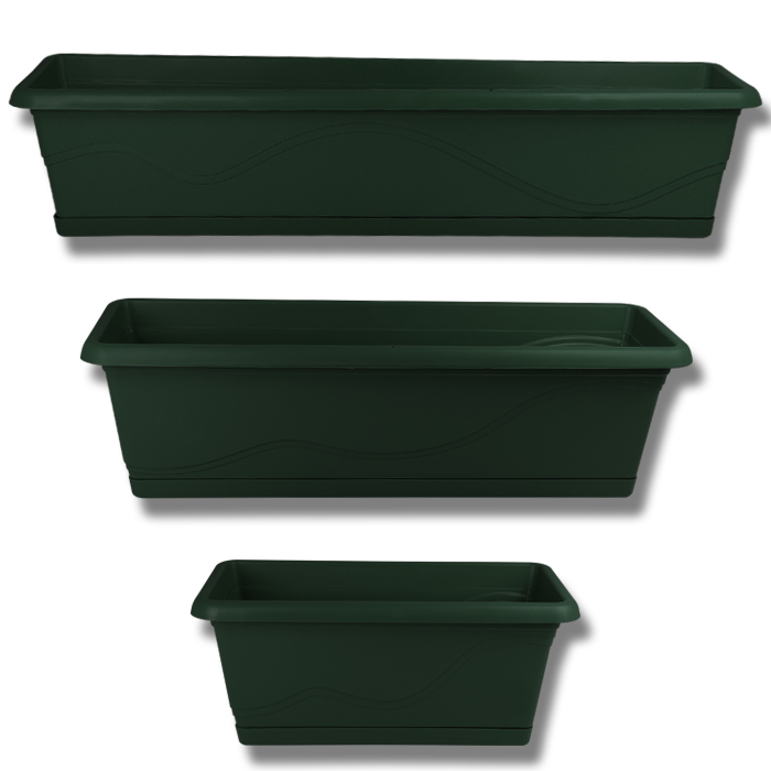blumenkasten mit wasserspeicher balkonkasten blumentopf bew sserung pflanzkasten. Black Bedroom Furniture Sets. Home Design Ideas