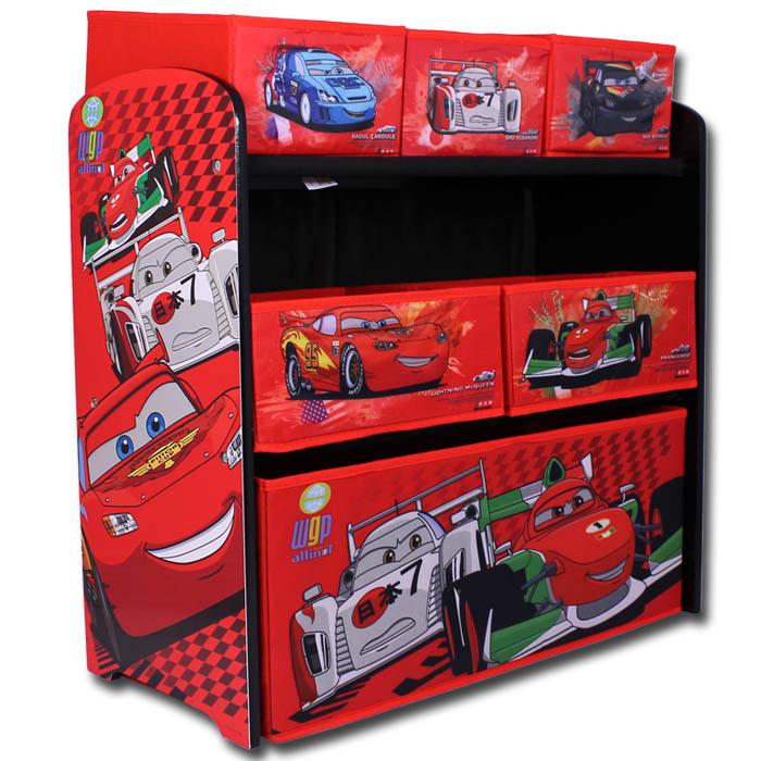aufbewahrungsregal disney cars kinder regal spielzeugkiste. Black Bedroom Furniture Sets. Home Design Ideas