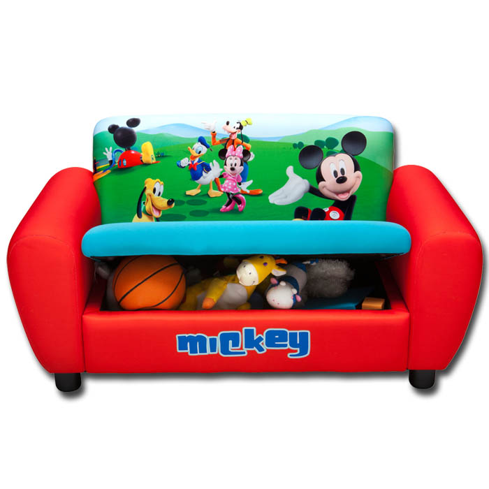 kindersofa disney mickey mouse m bel kinder sofa kindersofa spielzeugkiste couch ebay. Black Bedroom Furniture Sets. Home Design Ideas