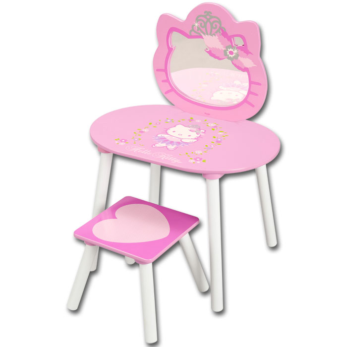 hello kitty schminktisch spiegel kinder frisierkommode. Black Bedroom Furniture Sets. Home Design Ideas