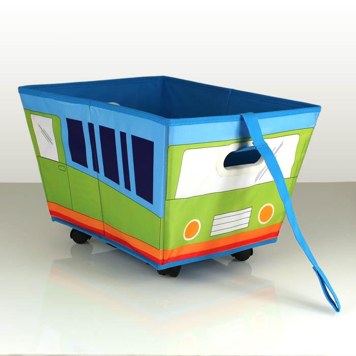 Spielzeugkiste rollen kinder spielzeugbox aufbewahrungsbox
