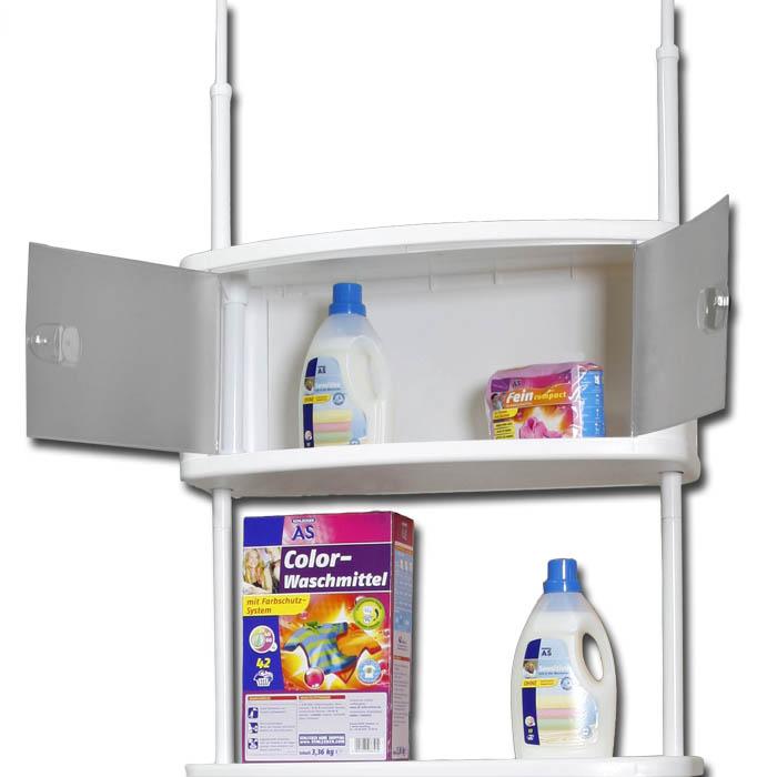 berbauregal regal teleskopregal badregal waschmaschinenschrank schrank wei ebay. Black Bedroom Furniture Sets. Home Design Ideas